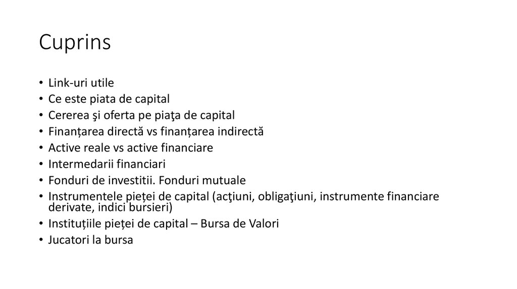 investiții în active reale și financiare)