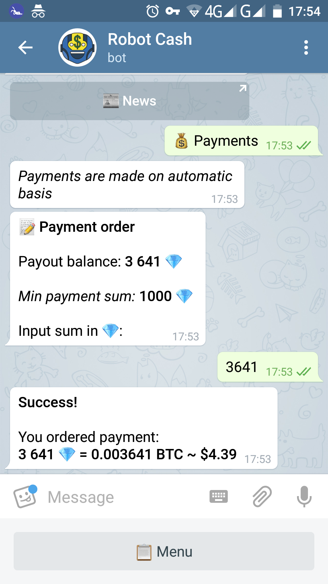 bitcoin telegram bot)