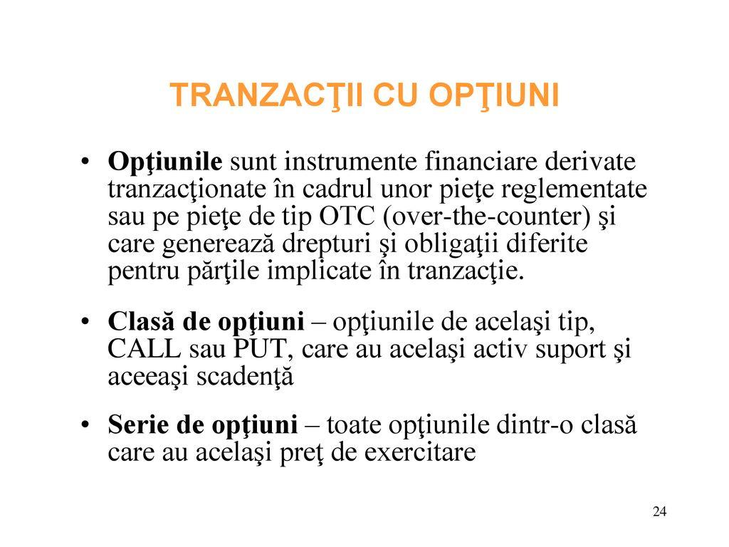 opțiuni tranzacționate