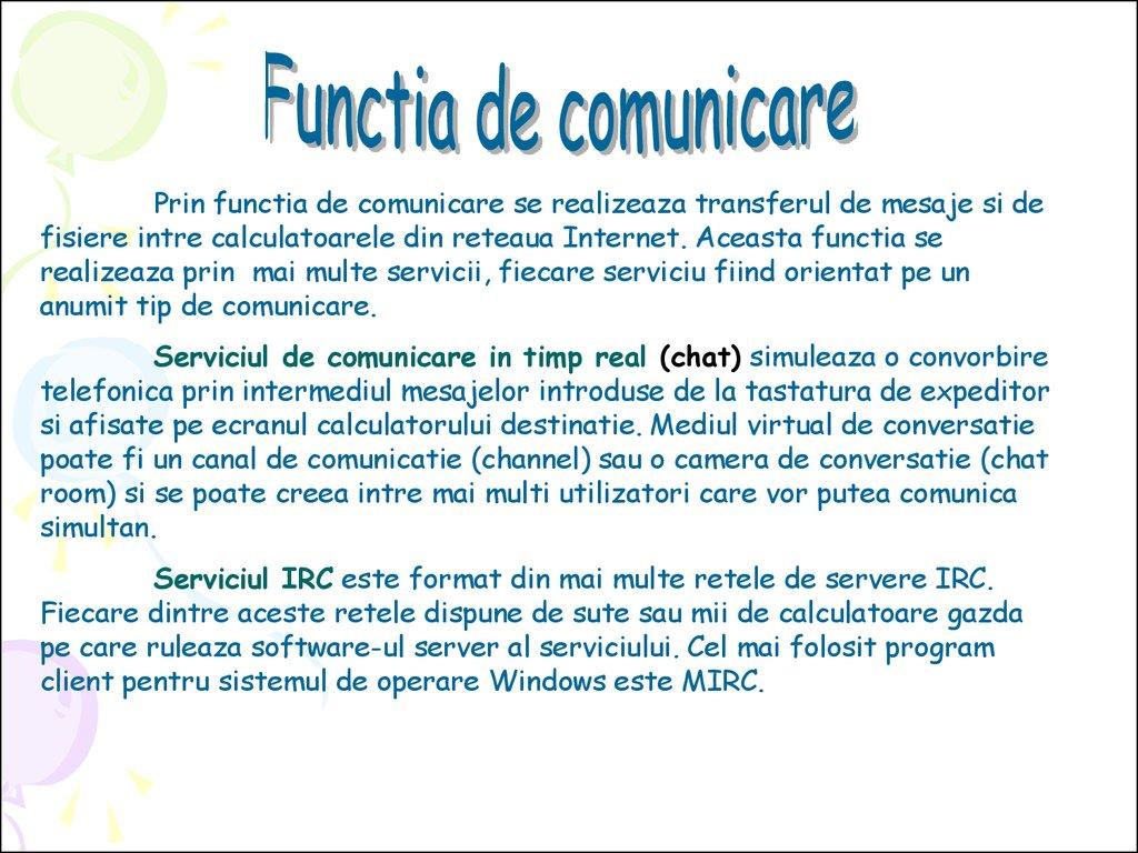 venituri pentru comunicare pe internet)