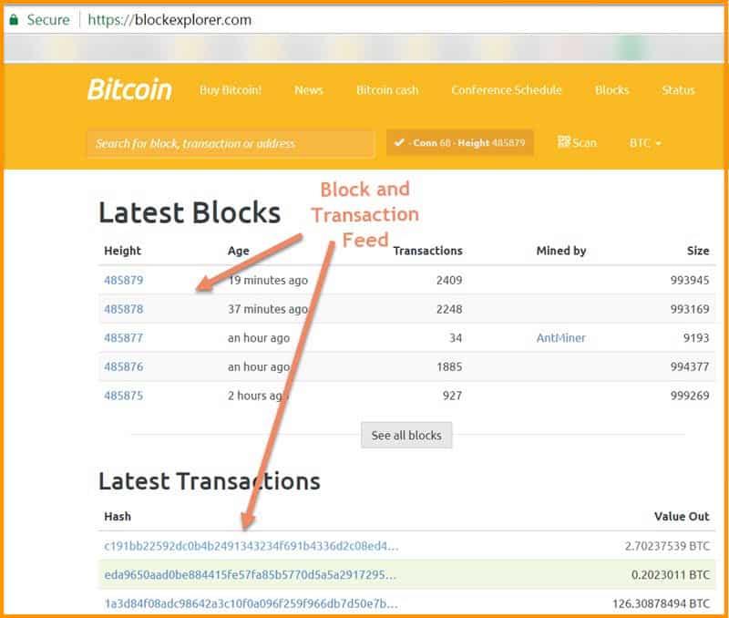 informații despre blockchain bitcoin block explorer)