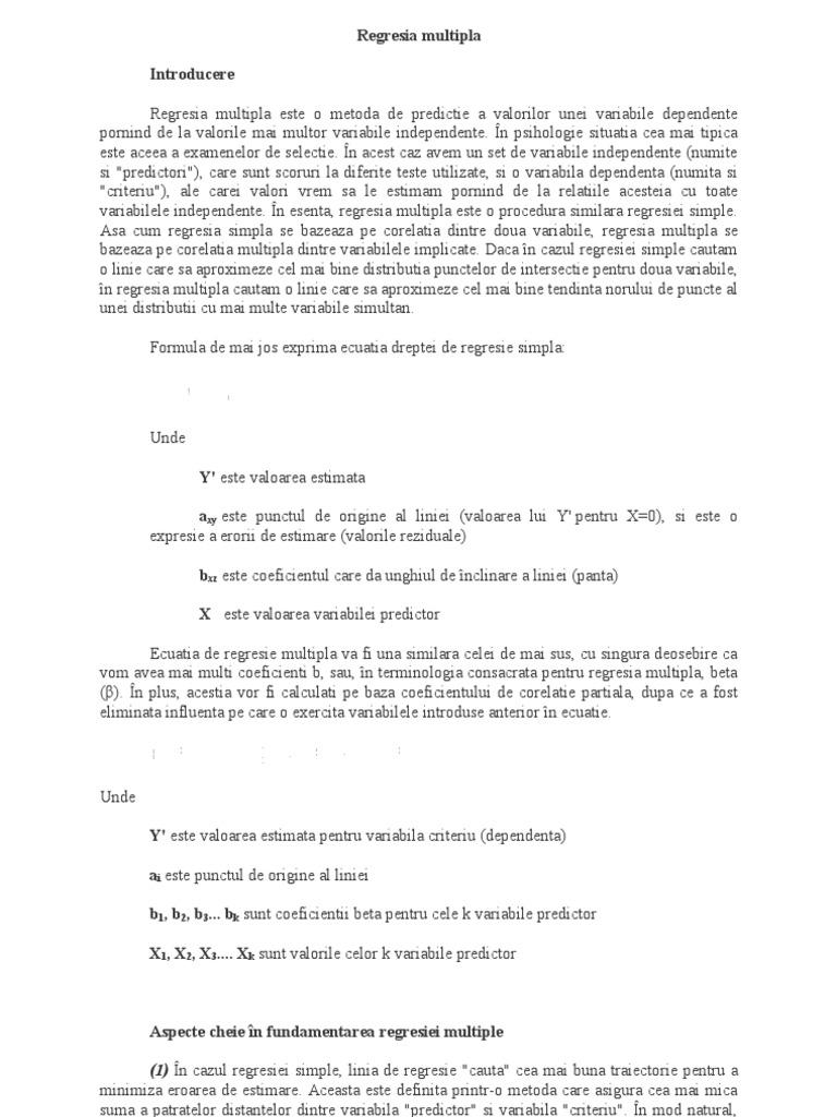 Calcularea coeficientului de corelaţie Pearson