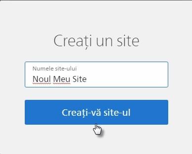 creați un site oficial)
