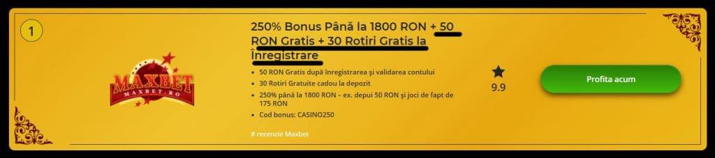 fără opțiuni bonus de depunere)