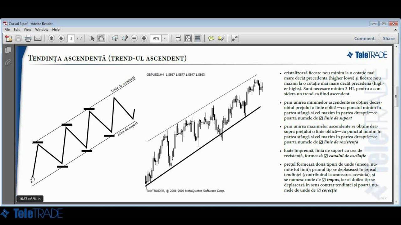 linii și canale de tendință