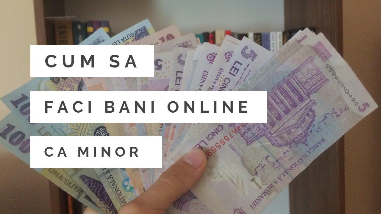 cum să câștigi bani pe internet la vârsta de 14 ani