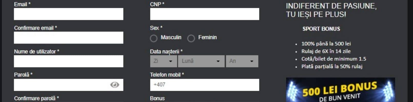 bonus la deschiderea unui cont demo)