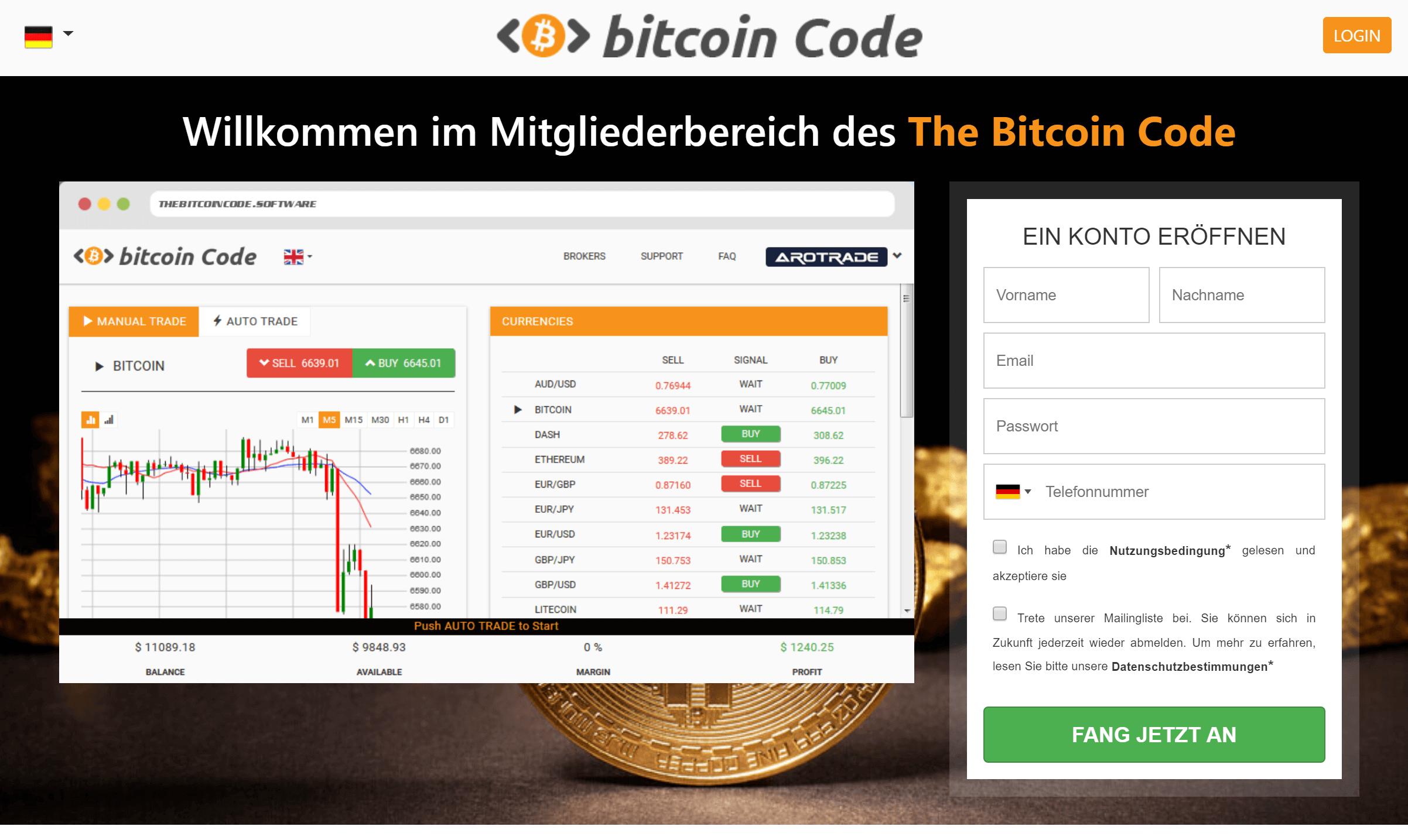 de ce cade bitcoin