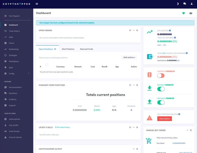 bot cryptohopper investind bani în proiecte online