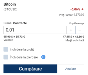 investească în Bitcoins înregistrare