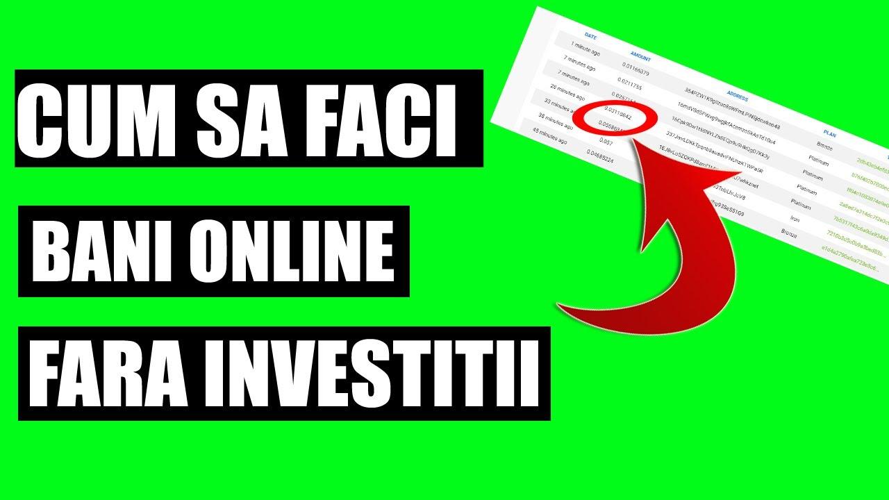 munca pe internet fără investiții și fără experiență)