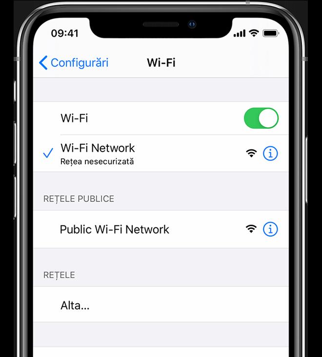 conectare opțiuni internet)