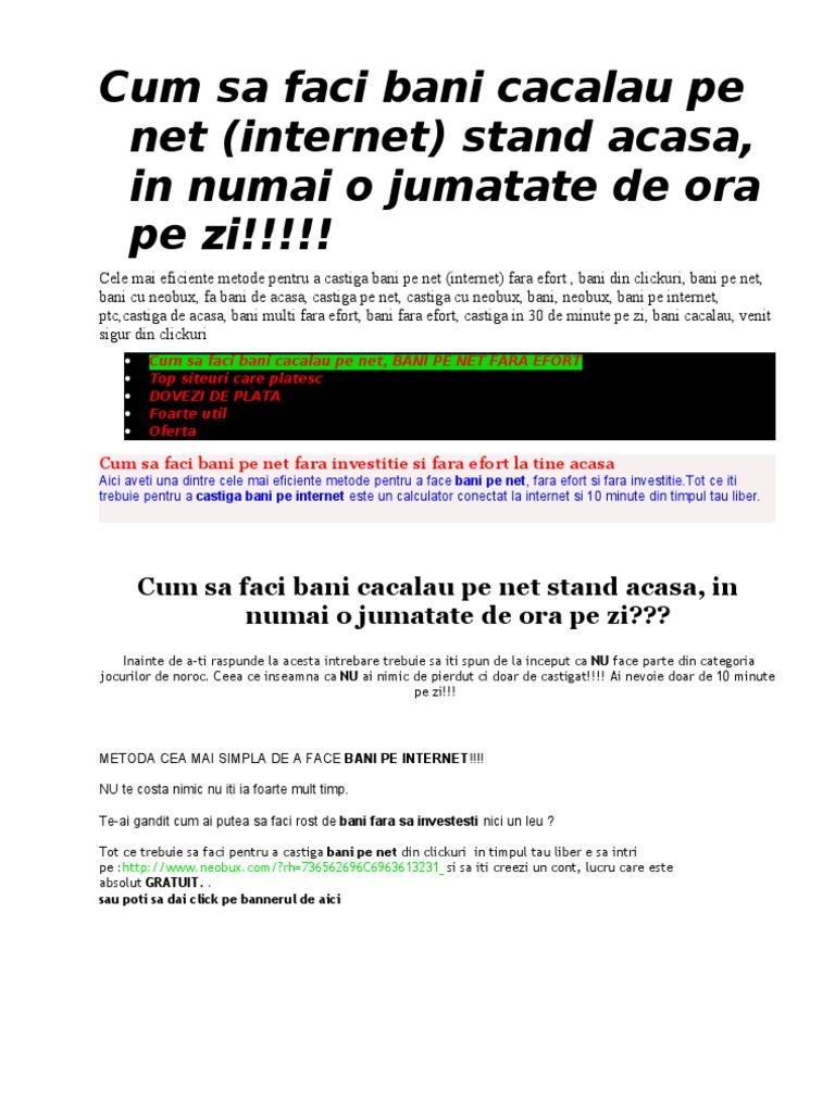 programe pentru a face bani pe Internet fără completare