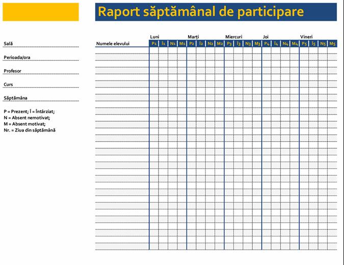 raport de participare la opțiuni