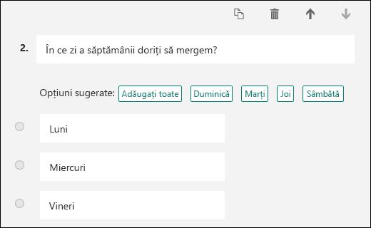 opțiuni vineri)