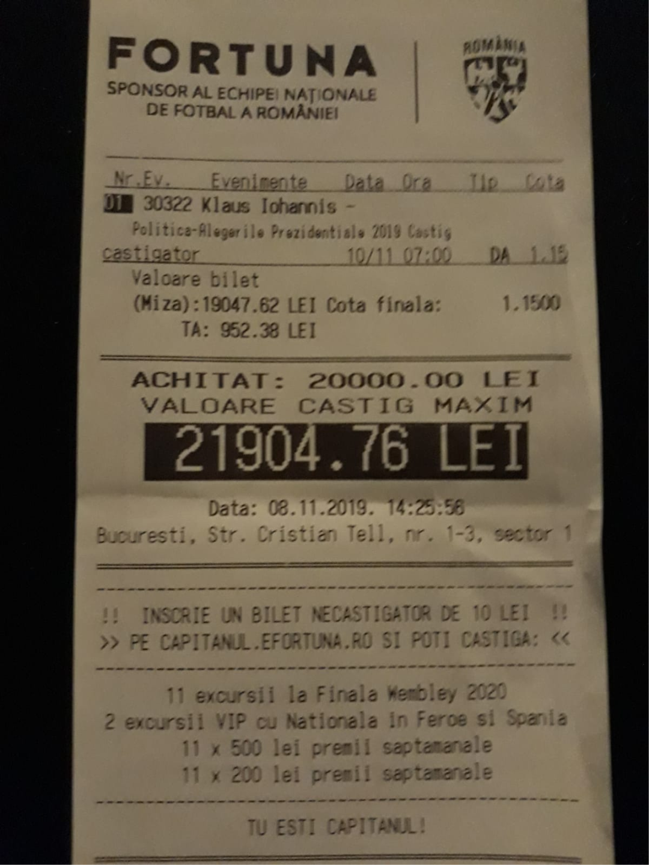 Am făcut pariuri pe bani)